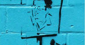 Banksy paints himself