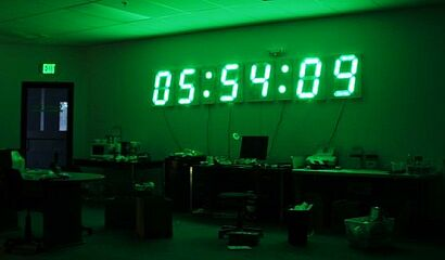 12 feet gps wall clock