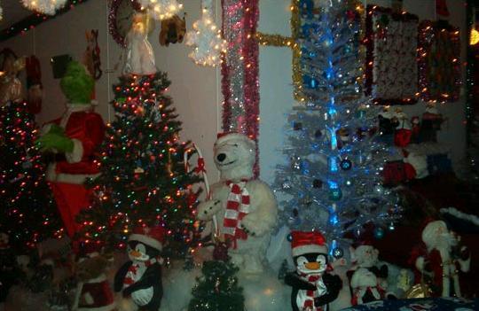 17000 bulbs and 30 christmas trees
