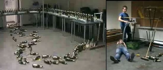 amazing beer bottle dominoes