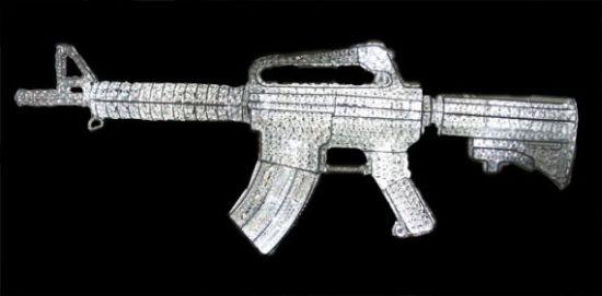 ar 15 assault rifle chandalier xkmWf 1333