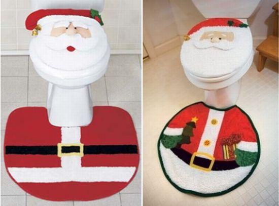 embellish your bathroom with santa bath set this christmas