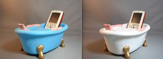 bathtub cell phone holder