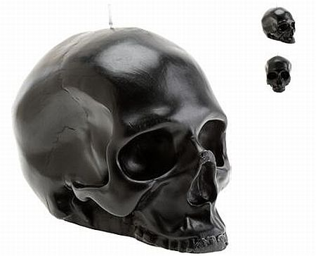 black skull candle
