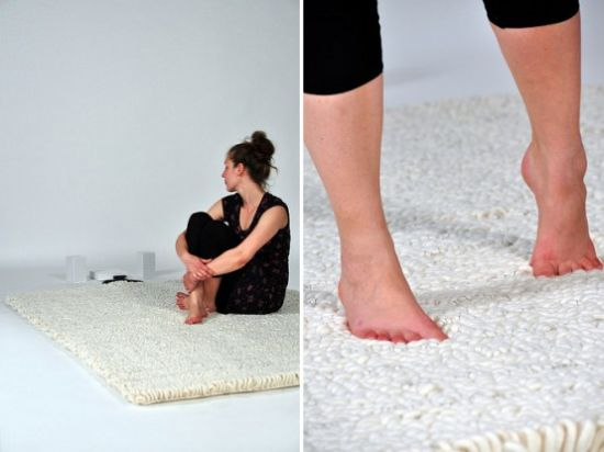 cool music carpet human antenna by florian krutli
