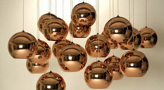 copper shade pendants