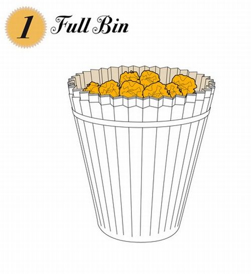 disposable waste paper basket 1
