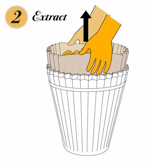 disposable waste paper basket 2