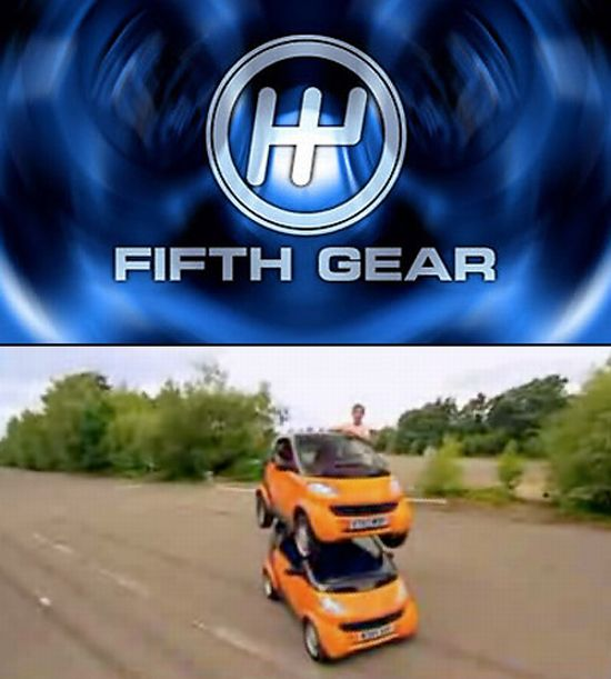 double decker car on fifth gear