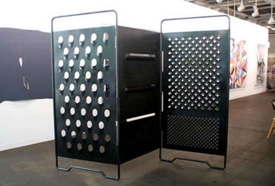 giant cheese grater room divider ZKNXy 2263