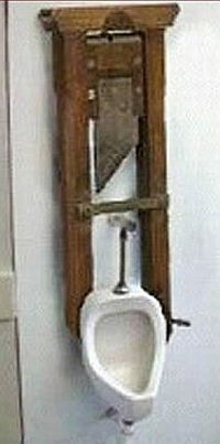 guillotine fitted loo dares you to bare it