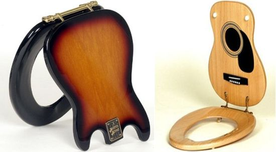 guitar inspired toilet seats