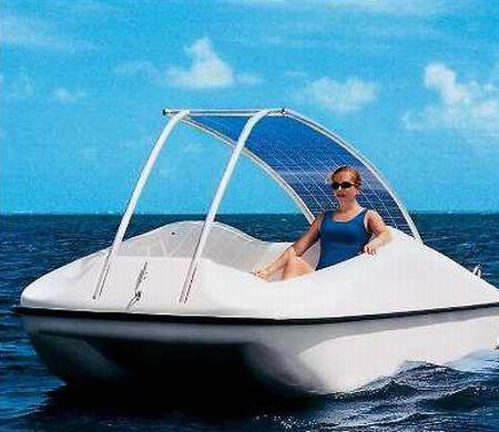 hammacher schlemmer solar powered personal boat jB