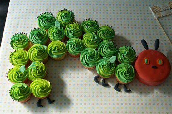 hungry catepillar cake