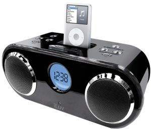 i166blk stereo audio ipod dock