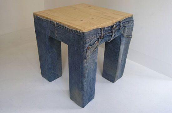 jeans stool