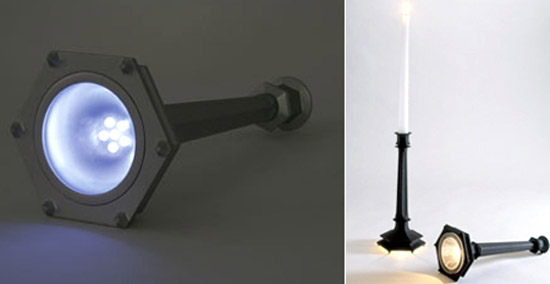 kikkerland candle holder flashlight
