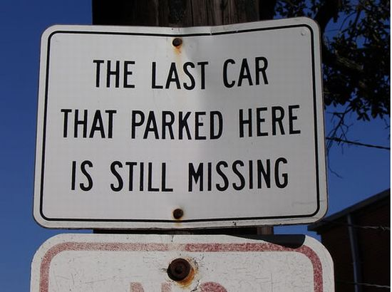 last car parked here missing sign zayXu 6648