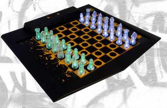 masterpiece led chess and checker set 1