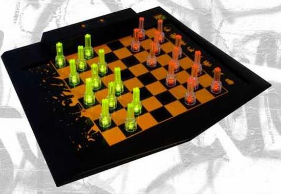 masterpiece led chess and checker set 2