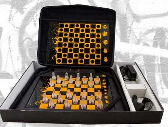 masterpiece led chess and checker set