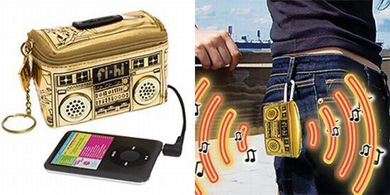 mini boombox ipod speaker pouch nod6U 6648