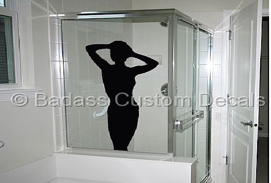 naked woman shower silhouette sKHLi 17340