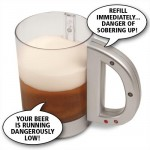 never empty beer mug