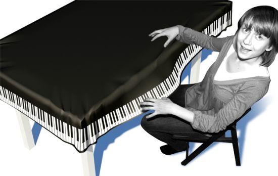 piano table cloth