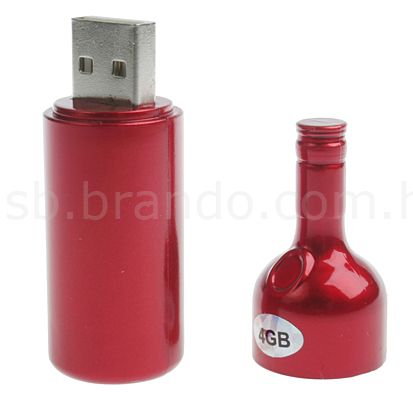 red wine shaped usb
