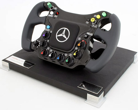 replica of a steering wheel