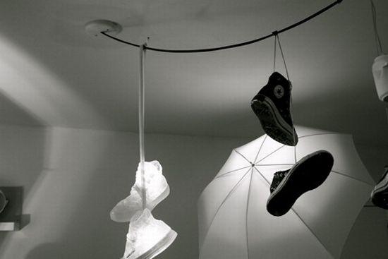 shoe chandelier
