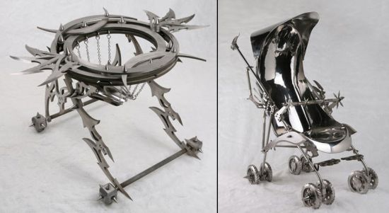 stainless steel walker and stroller