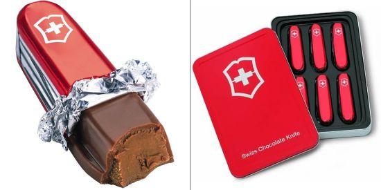 swiss chocolate knife gift set