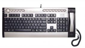 talky multimedioa keyboard with voip handset