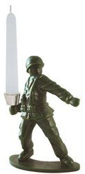 toy soldier candle holder