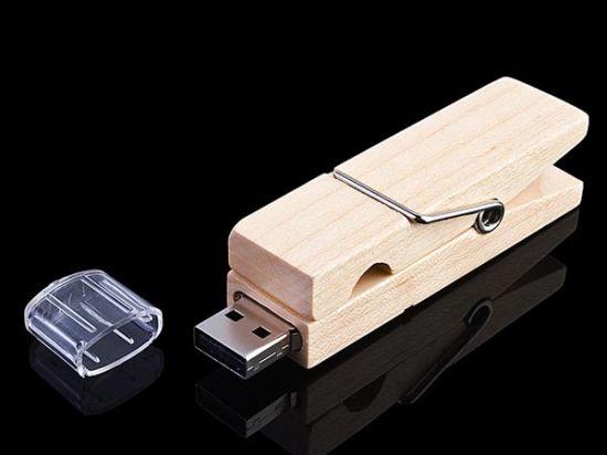 usb wooden clip flash drive