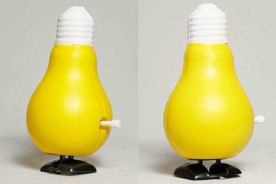 walking lightbulb