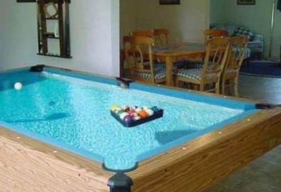 water laden pool table 59