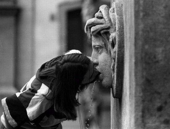 wet kiss