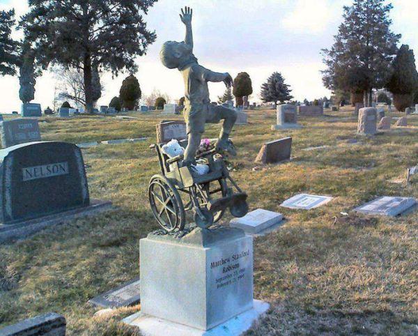 wheelchair gravestone