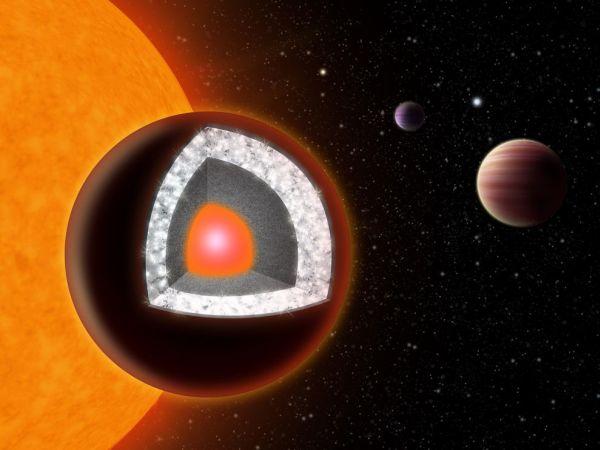 The diamond planet