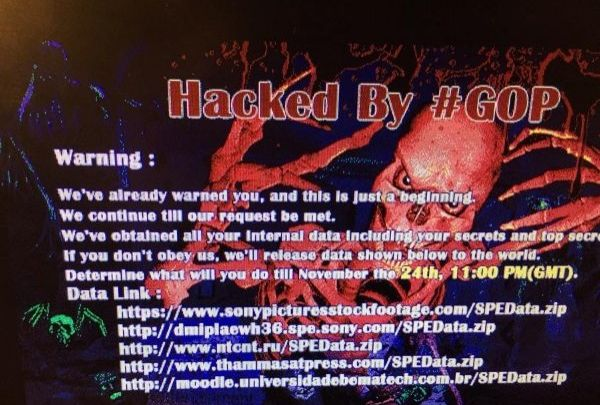 Sony hacked by Guardian of Peace