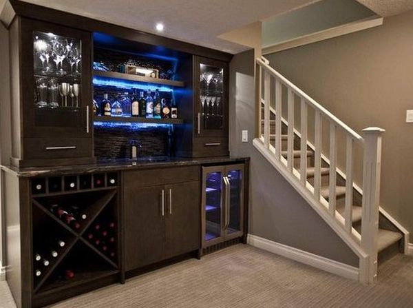 Tube shaped home bar
