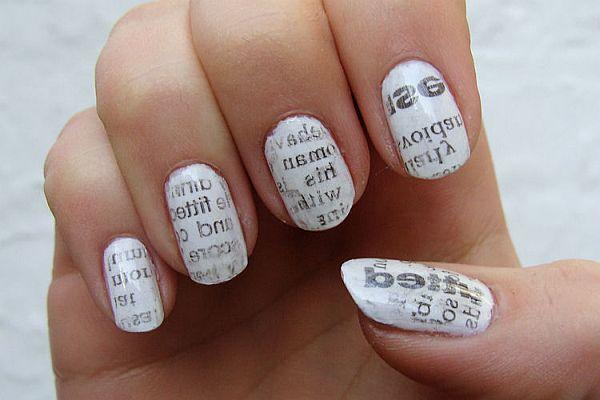 Newspaper nail design