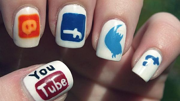 Social networking sites nail design