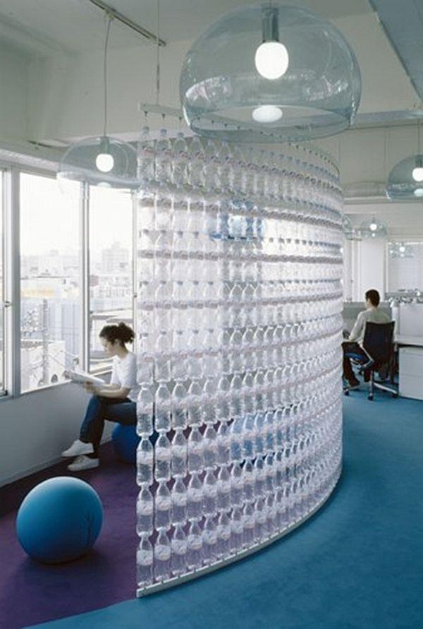 Danone bottle wall in Tokyo