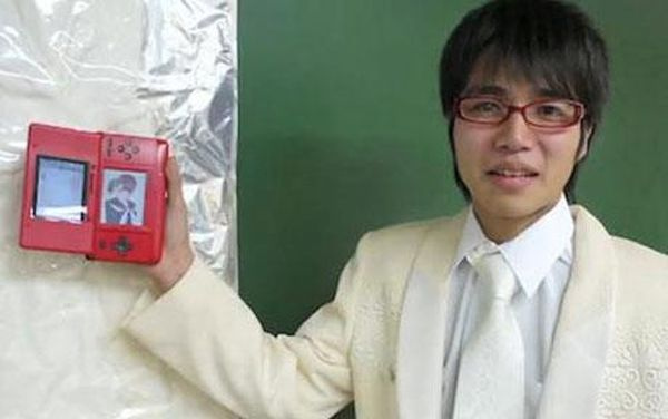 Japanese man married a Nintendo character
