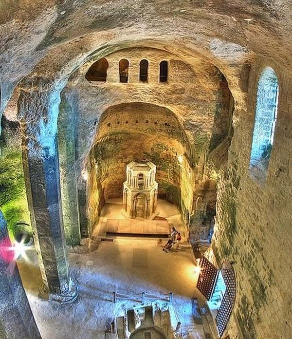 The Underground Church of St Jean, France