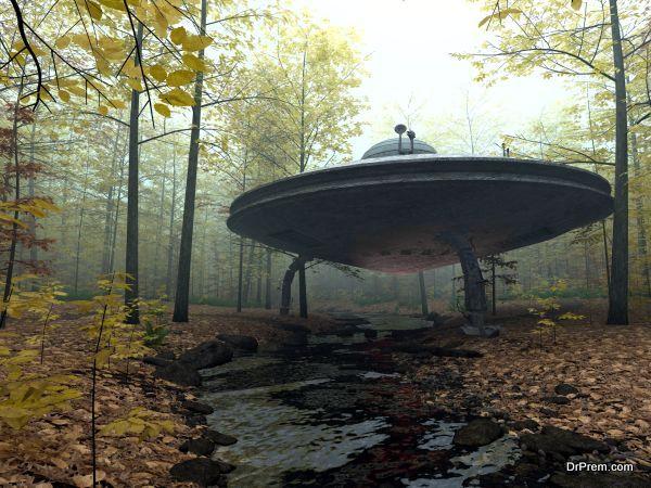 Secret UFO Landing
